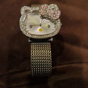 Hell Kitty silver color watch & adjustable strap